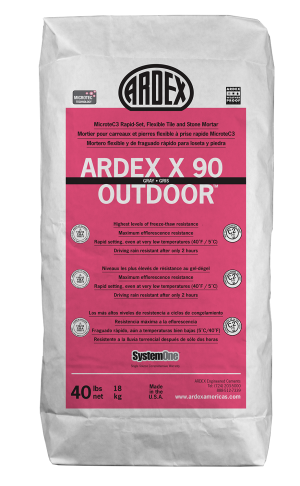ARDEX Americas | ARDEX X 90 OUTDOOR™