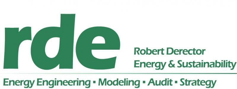 rde: Robert Derector Energy & Sustainability. Energy Engineering; Energy Modeling; Energy Audit; Energy Strategy