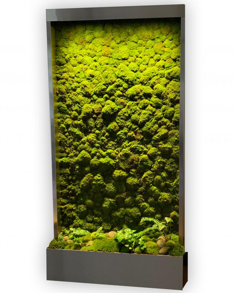 live moss walls, self contained living walls, living walls indoor