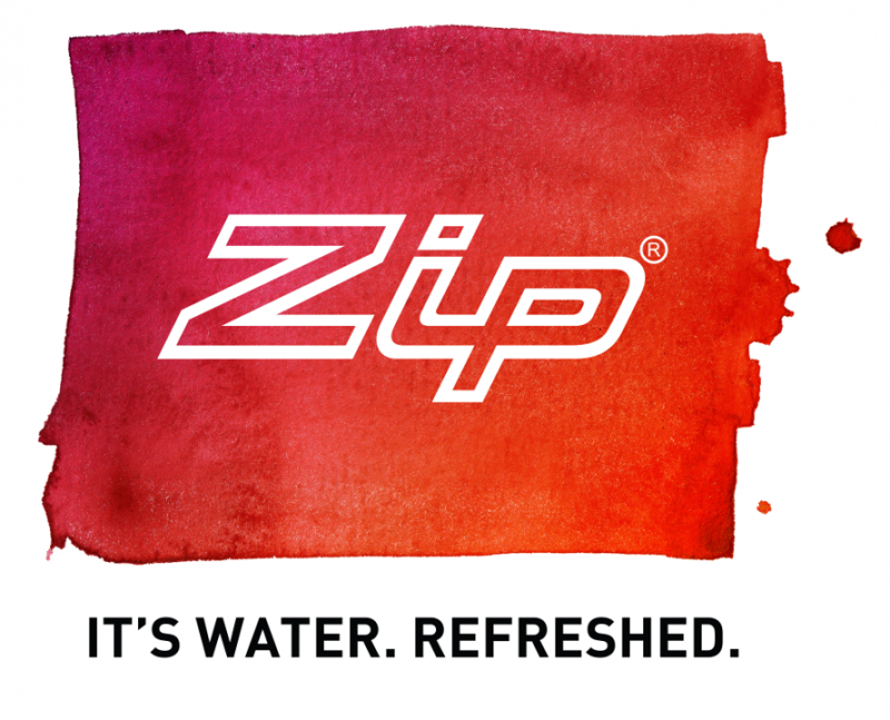 Zip. It's Water. Refreshed.