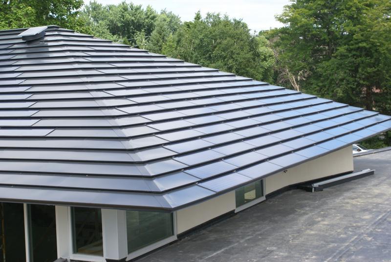 Complete Custom Solar Metal Roof with LRSS 65 Shingles (minimum 65W per shingle, polycrystalline, hidden splice plate)