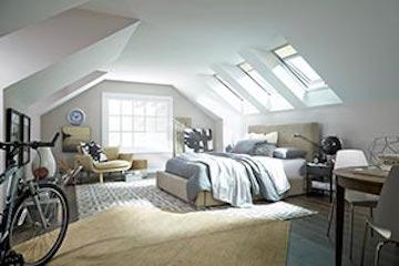 """The No Leak Solar Powered """"Fresh Air"""" Skylight features a solar panel that captures any available daylight and uses it to recharge a battery powered operator and control system."""