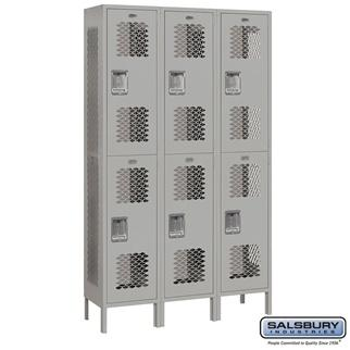 """Extra Wide Vented - 15"""" W Lockers - Double Tier Extra Wide Vented"""