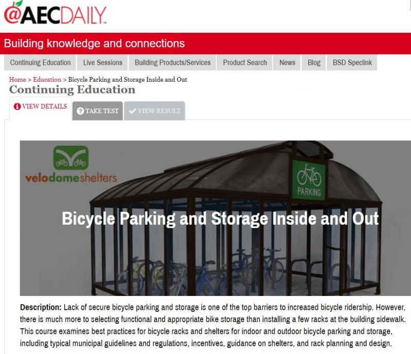 Bicycle Parking and Storage Inside and Out- Free CE Course