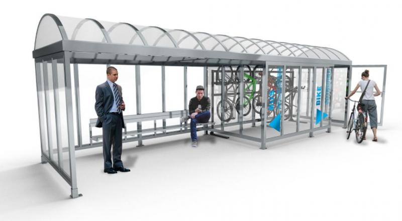 Multi-Modal Bicycle Shelter