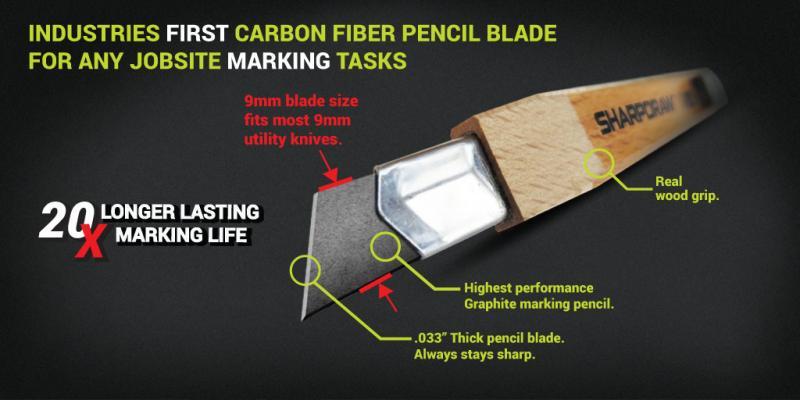carpenters pencil, sharpdraw, prazi usa, edc handtools, pencil