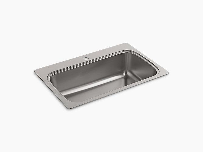 K-20060-1-NA | Verse Top-Mount Kitchen Sink, Single Faucet Hole