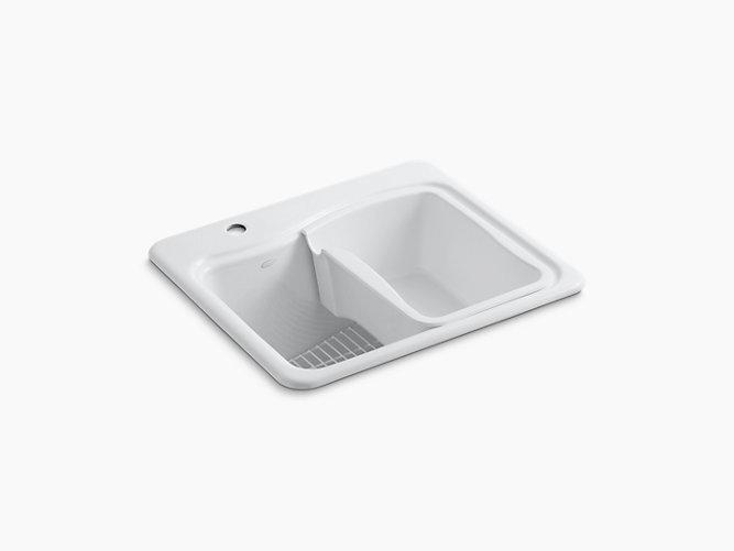 River Falls Top-Mount Utility Sink with Single Hole Faucet | K-6657-1 | KOHLER
