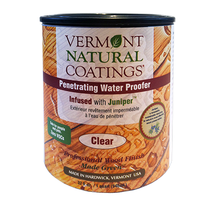 Vermont Natural Coatings Penetrating Water Proofer Infused with Juniper