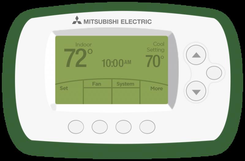 Wireless Wall-Mounted Controls | Mitsubishi Electric Cooling & Heating