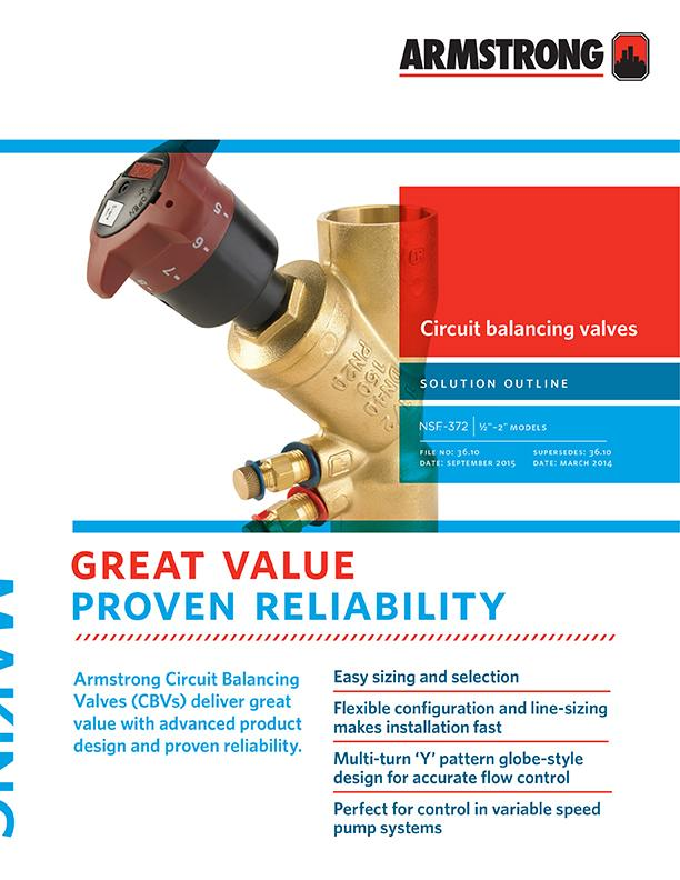 Circuit Balancing Valves - 2inch to 12inch | Armstrong Fluid Technology