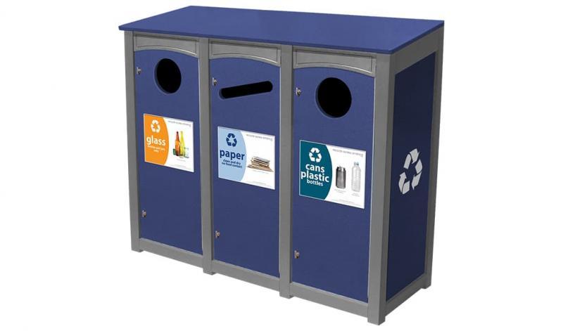 EasyCare™ Emerald Triple 18 Gallon Recycling Bin
