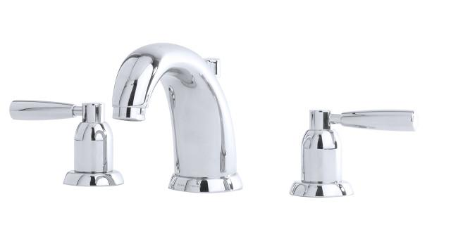 Three hole basin set with lever handles