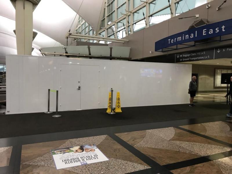 Reusable Airport Walls