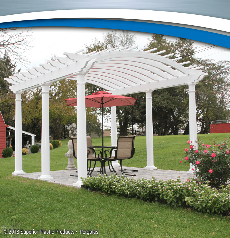 Aluminum and Vinyl Pergolas - Superior Plastic Products