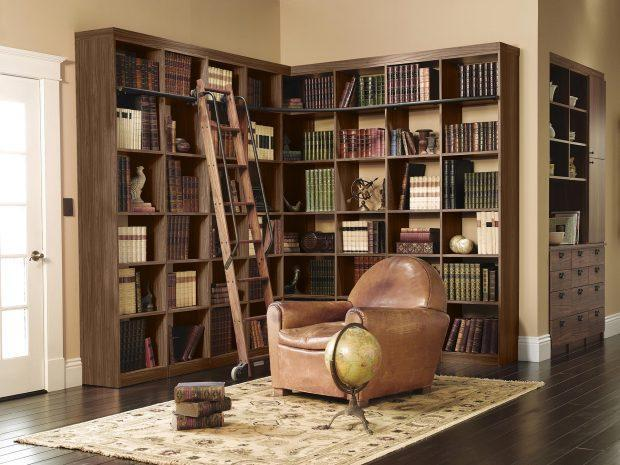Home Library Bookcases & Shelves Solutions - California Closets