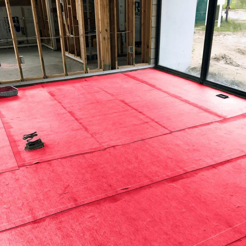 Flooring Underlayment with non-chemical termite and pest barrier