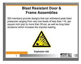 Blast Doors   Pressure Resistant Doors   SDI