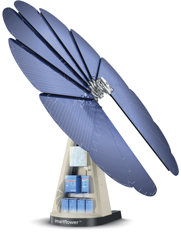 A smart solar solution with battery storage | smartflower
