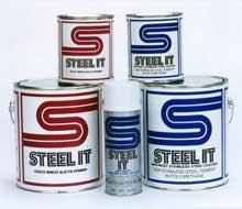 Polyurethane for Metal: Industrial Metallic Polyurethane Paint Coatings: Corrosion Heat & Wear Resistant Spray Paint System   STEEL-IT®