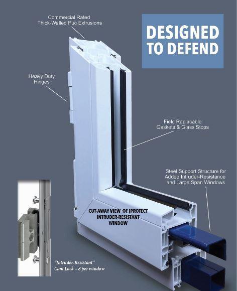 Intruder Resistant Tilt Turn Window - iProtect