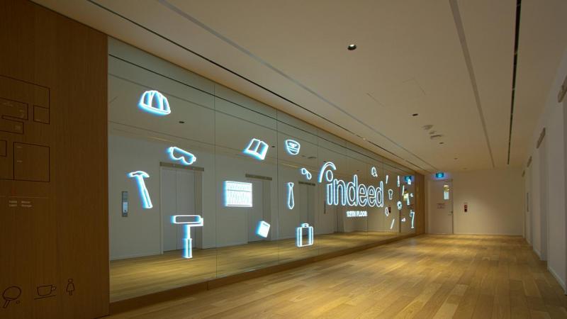 Back-lit brand wall