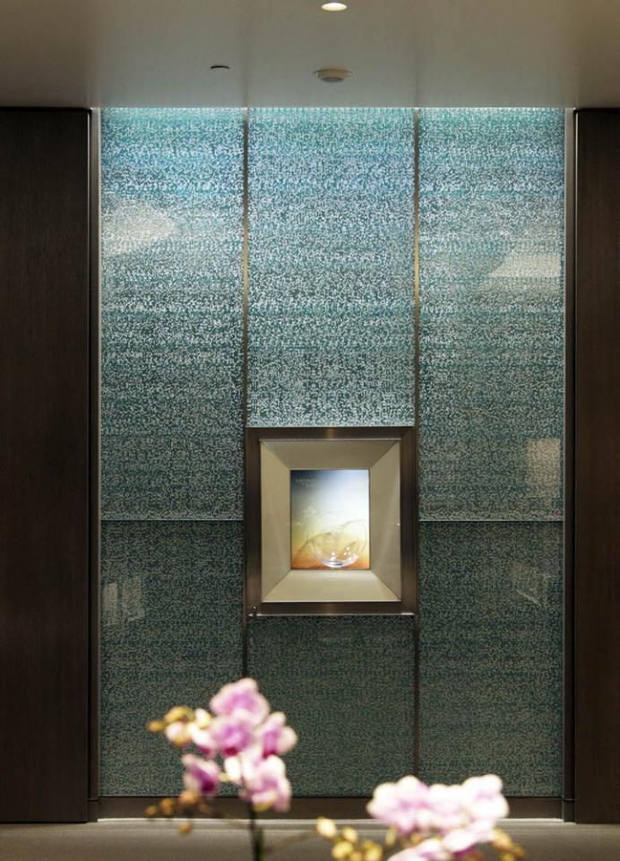 Scintilla Glass Feature Wall