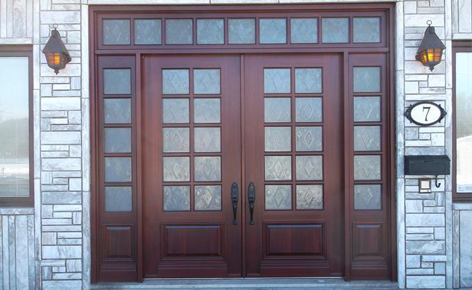 Portes Bourassa   Wooden front door - Classic Style #084