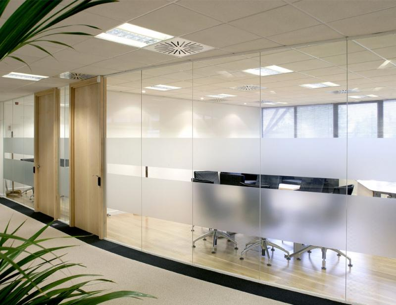 Single Glazed Frameless Glass Partitions & Walls