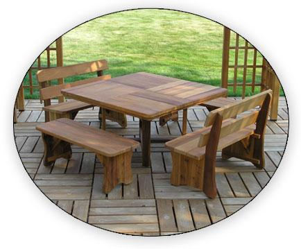 """Baldwin Lawn Furniture - Tables & Benches - 54"""" Square Table"""