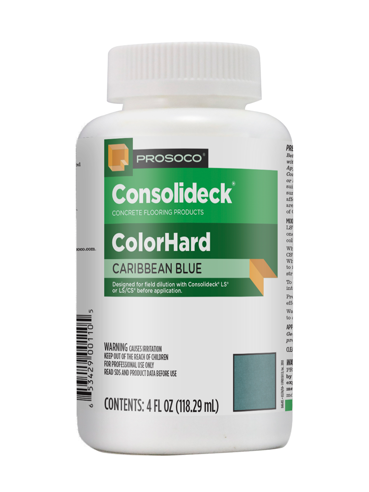 Decorative color concentrate for interior and exterior concrete floors - PROSOCO ColorHard
