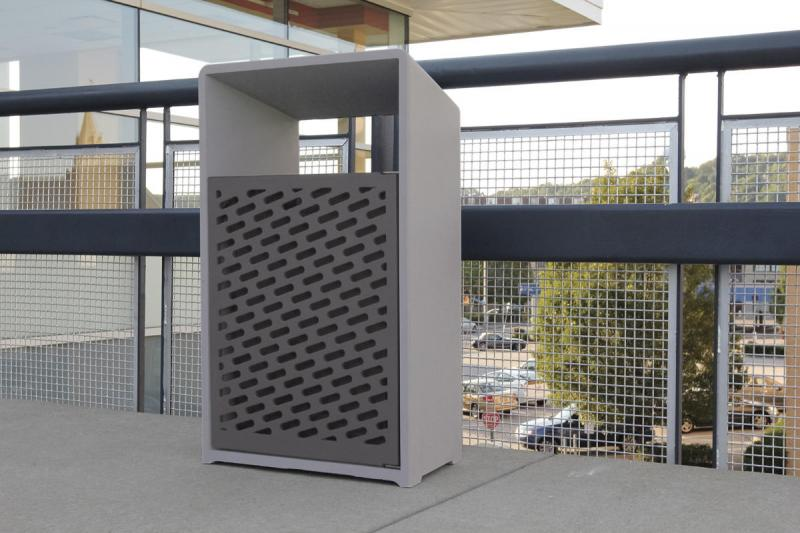 Bevel Litter Receptacle | Outdoor | Forms+Surfaces