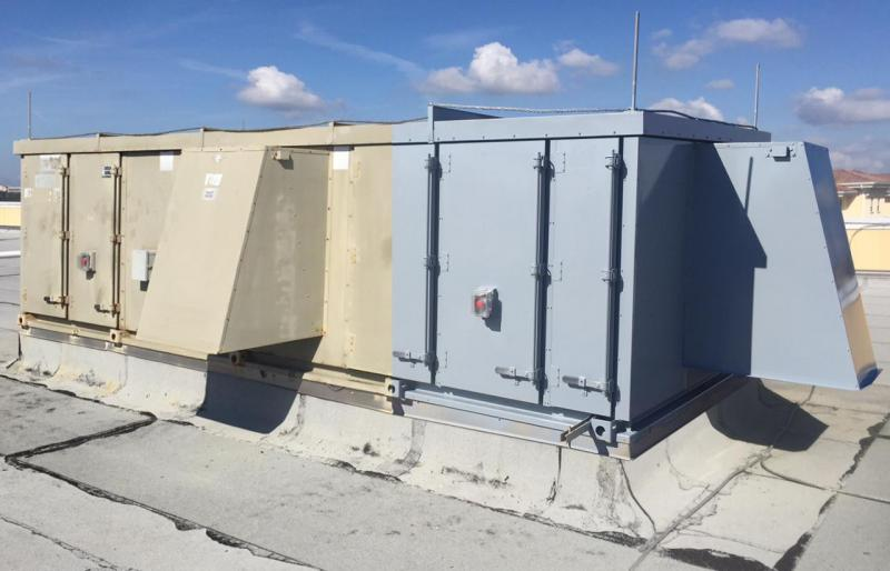 Exterior Before and After HVAC New Life