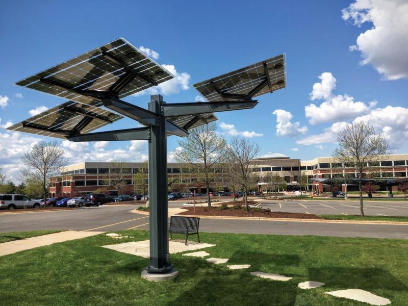 Industry solar tree Spotlight Solar Alliant Energy