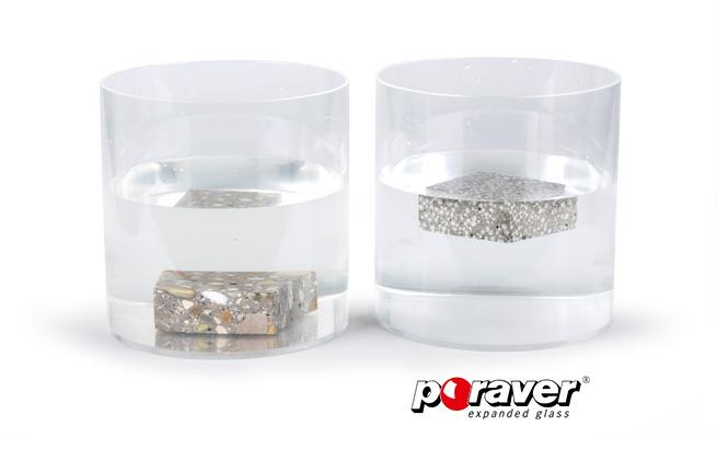 Lightweight concrete - PORAVER® expanded glass