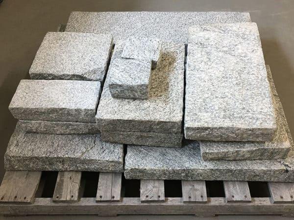 Gray Granite Bush Hammered Pavers