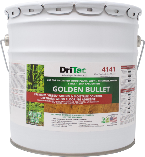 "DriTac ""Golden Bullet"" Sound & Moisture Control Wood Flooring Adhesive"