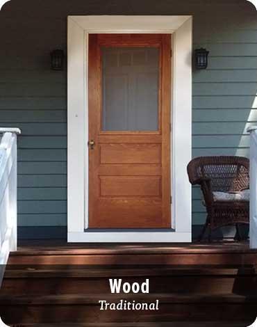 Storm Doors - Wood