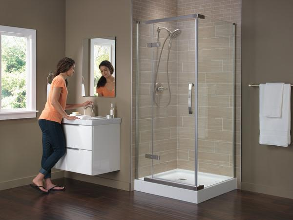 "36"" x 36"" Frameless Shower Enclosure B912912-3636-SS"