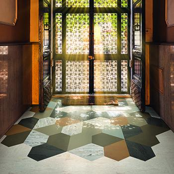 Pentagonals Rubber Tile