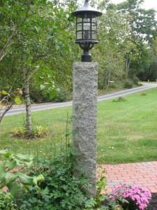 8' Granite Lamp Post