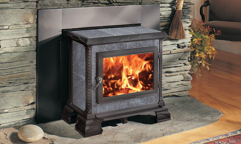HOMESTEAD HEARTHMOUNT - MATTE BLACK | Manufactured | Matte | Painted | Homestead | Free-Standing Stove | Wood | Cast & Stone | Appliance | hearthstone