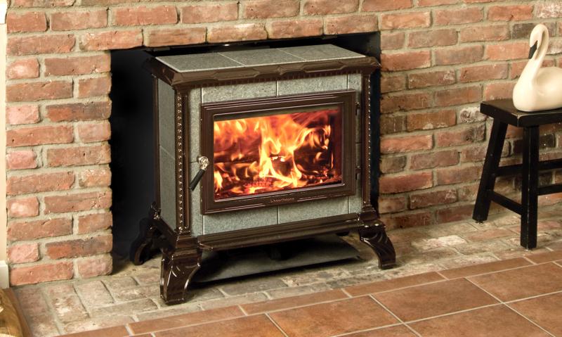 HOMESTEAD FREESTANDING - MAJOLICA BROWN ENAMEL | Manufactured | Brown Majolica | Enamel | Homestead | Free-Standing Stove | Wood | Cast & Stone | Appliance | hearthstone