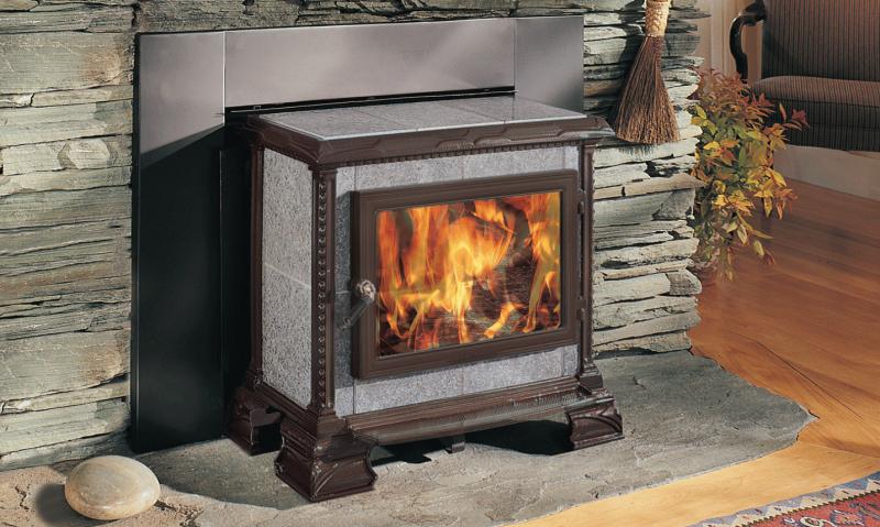 HOMESTEAD HEARTHMOUNT - MAJOLICA BROWN ENAMEL | Manufactured | Brown Majolica | Enamel | Homestead | Free-Standing Stove | Wood | Cast & Stone | Appliance | hearthstone