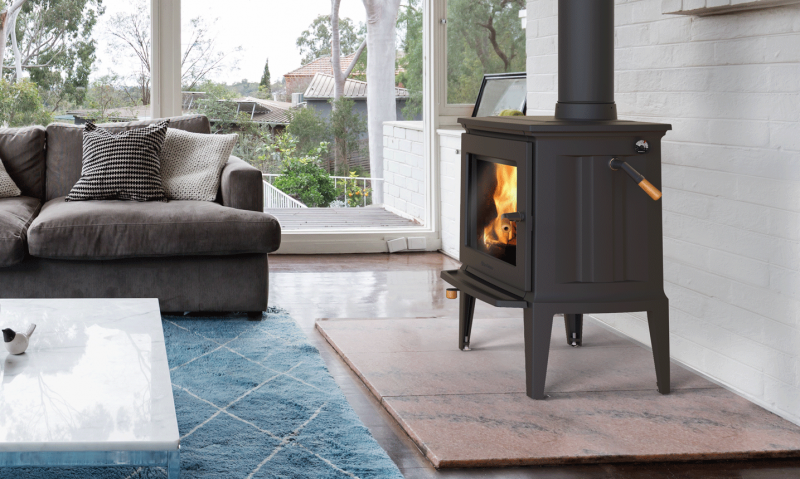 GREEN MOUNTAIN 40 - MATTE BLACK | null | Free-Standing Stove | Wood | Cast | Appliance | hearthstone