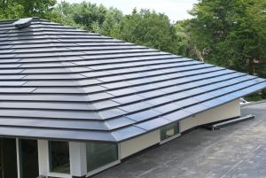 Complete Custom Solar Metal Roof with LRSS 65 Shingles (minimum 65W per shingle, polycrystalline, hidden splice plate)