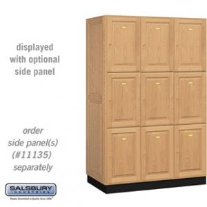 Solid Oak Executive Lockers - Triple Tier