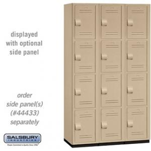 Four Tier Extra Wide Heavy Duty Plastic Lockers