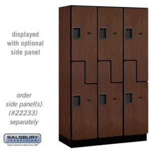 "Extra Wide Designer Lockers - 15"" W - Double Tier S Style"