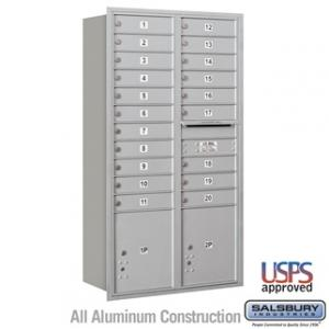 Salsbury Recessed Mounted 4C Horizontal Mailbox